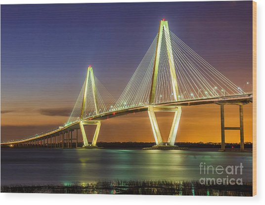 Arthur Ravenel Bridge Charleston Sc Wood Print