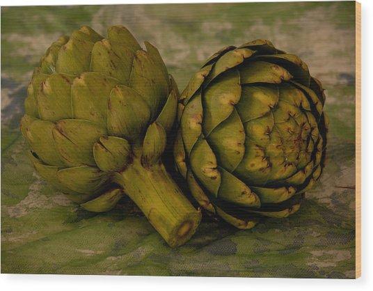 Artichokes Wood Print
