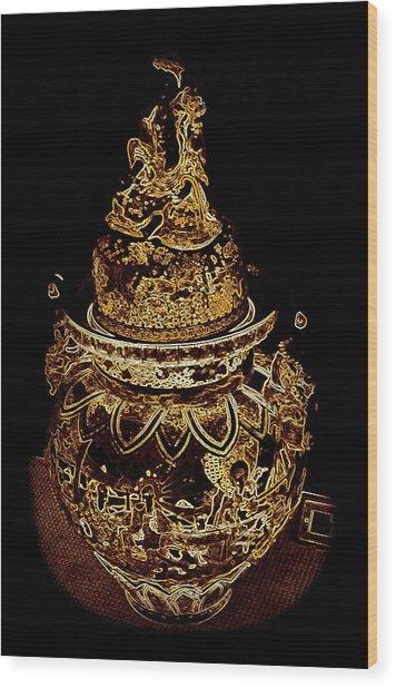 Artifact Dublin Castle Ireland Abstract Wood Print