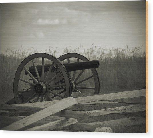 Artillery At Mcpherson Ridge Wood Print