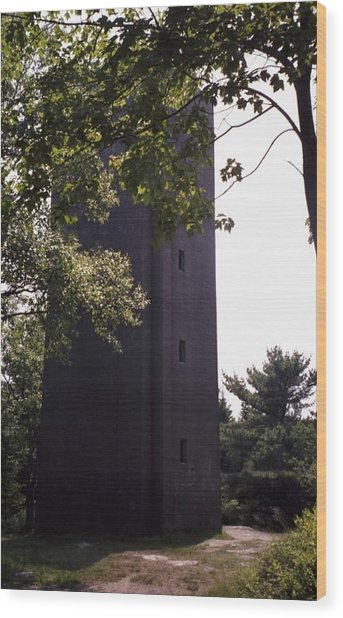 Artillery Spotting Tower Wood Print by David Fiske