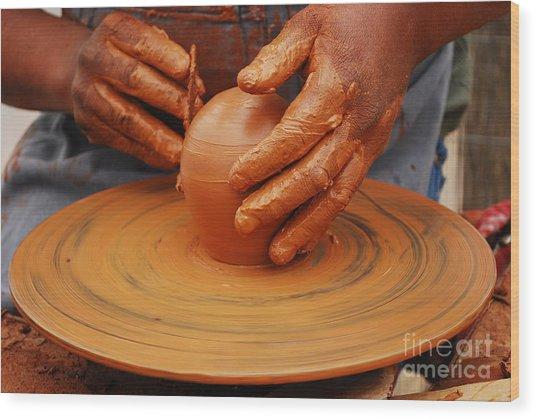 Artisan Hands Wood Print by Susan Hernandez