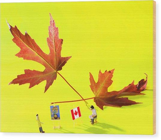 Artist De Imagination Little People Big Worlds Wood Print