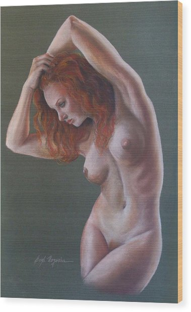 Artistic Nude Wood Print