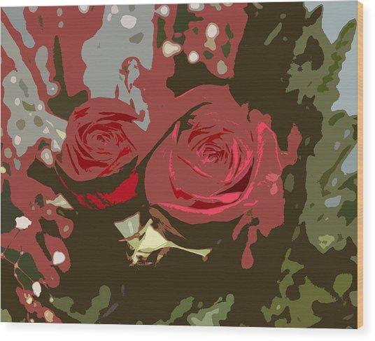 Artistic Roses Wood Print