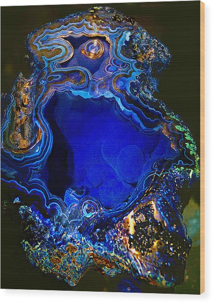 Artists Bisbee Velvet Beauty Azurite Wood Print