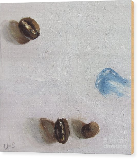 Artist's Coffee Break Wood Print by Ulrike Miesen-Schuermann