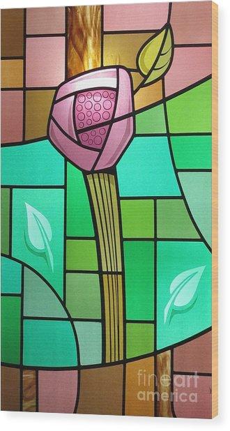 Arts And Crafts Rose Wood Print