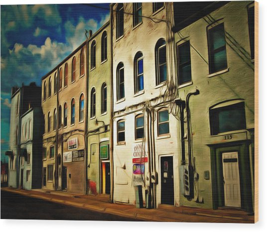 Arts In The Alley Wood Print