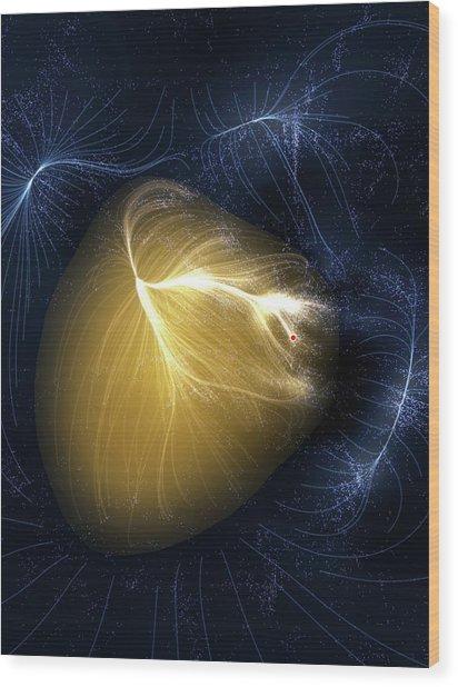Artwork Of Laniakea Supercluster Wood Print by Mark Garlick