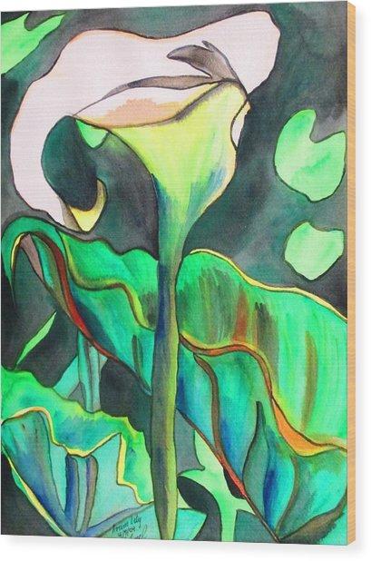 Arum Lily Wood Print by Sacha Grossel