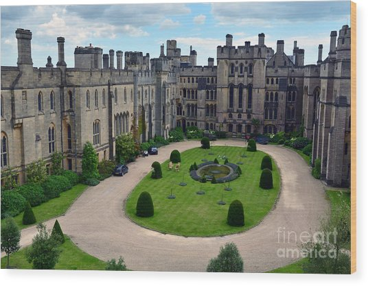 Arundel Castle Courtyard Wood Print