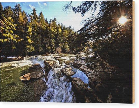 As Lawrence Welk Used To Say-ah Waterfall Waterfall Wood Print