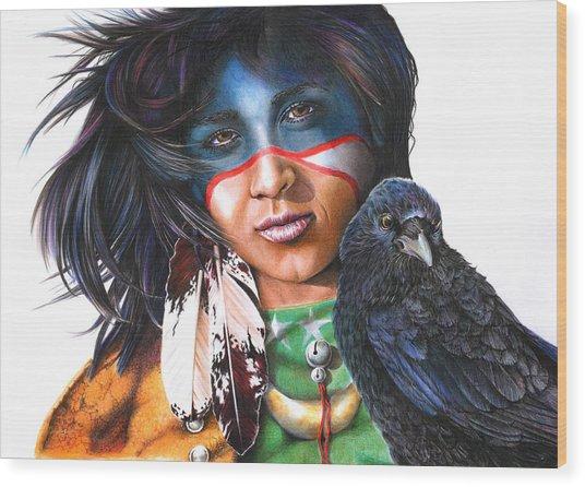 As The Crow Flies Wood Print
