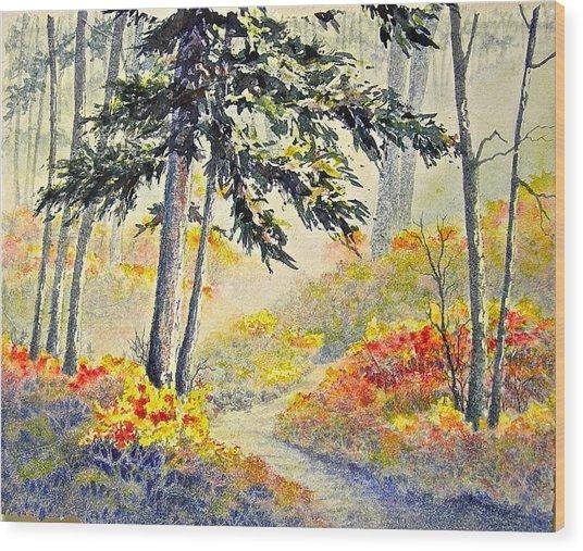 As The Fog Lifts Wood Print
