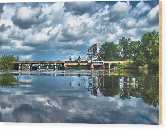Ashepoo Train Trestle Wood Print