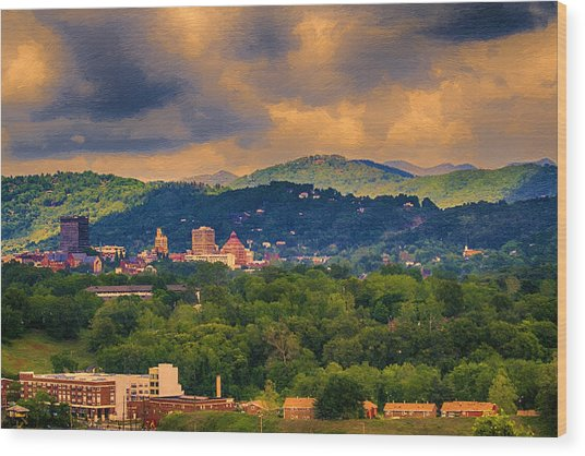 Asheville North Carolina Wood Print