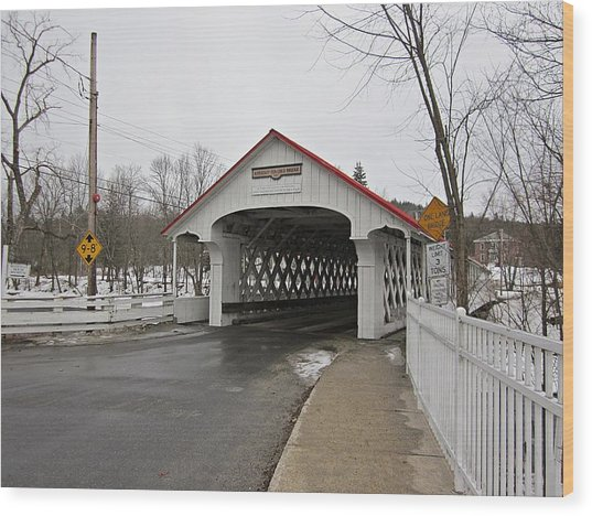 Ashuelot Bridge Wood Print
