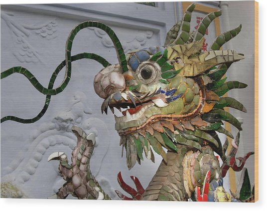 Asia, Vietnam Ceramic Naga, Phouc Kien Wood Print