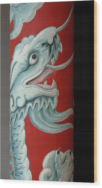 Asia, Vietnam Naga On A Column, Phouc Wood Print