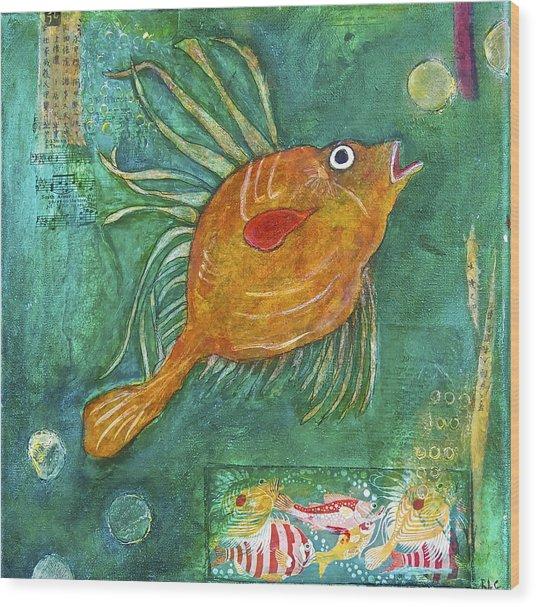 Asian Fish Wood Print