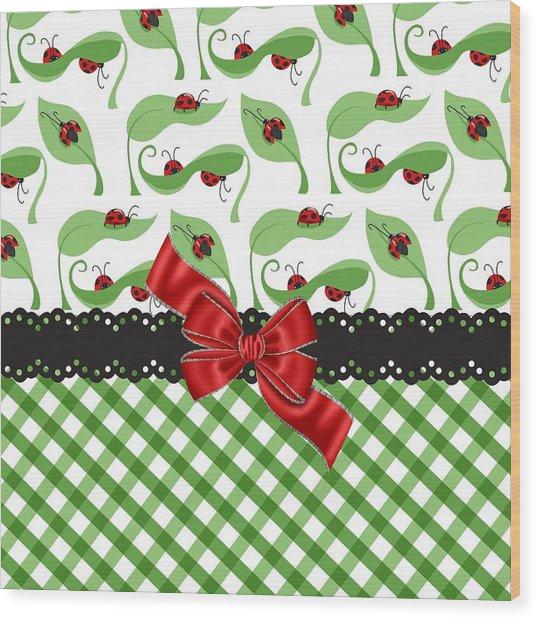 Asiatic Ladybugs  Wood Print