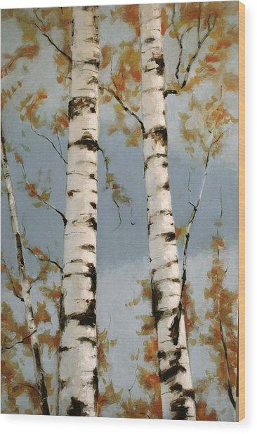 Aspen Autumn Wood Print