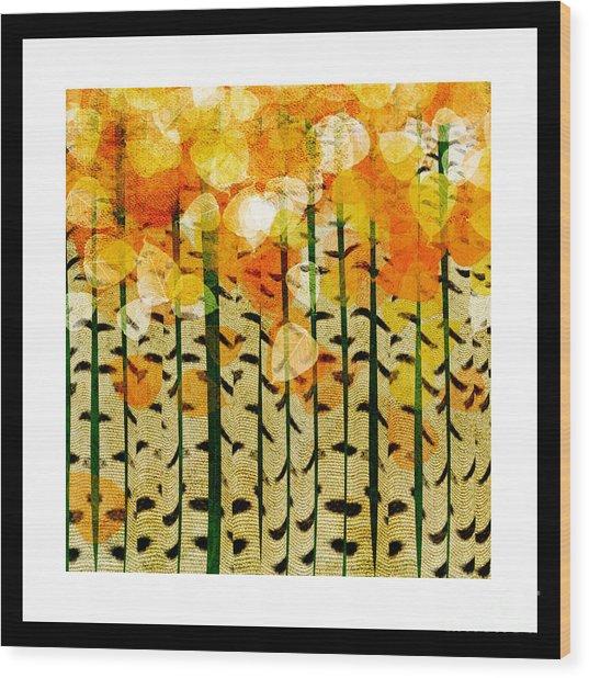 Aspen Colorado Abstract Square 4 Wood Print