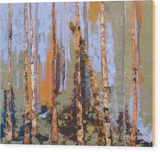 Aspen Forest Colorado Wood Print