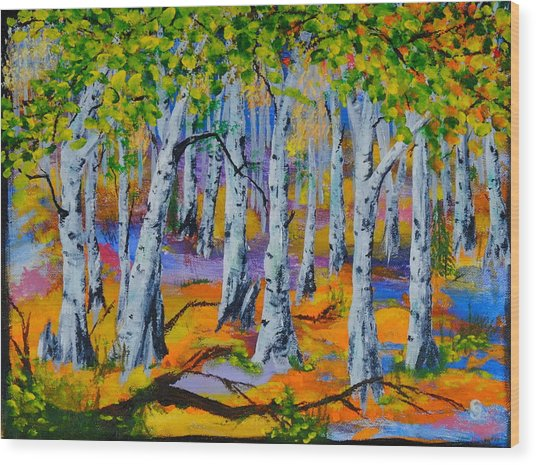 Aspen Friends In Walkerville Wood Print