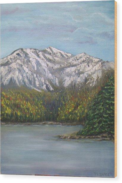 Aspen Lake Wood Print