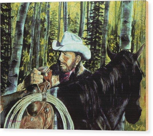 Aspen Morning Wood Print