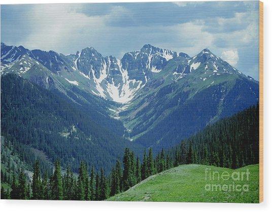 Aspen Mountain Wood Print