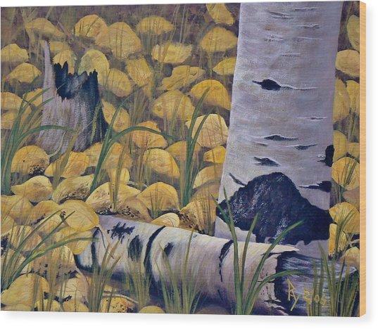 Aspen-ness Wood Print