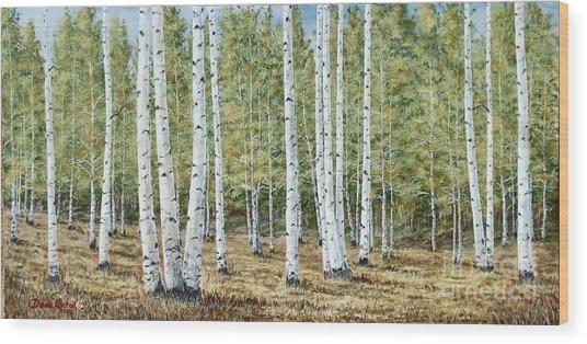 Aspen South Saddle Blue Mtn 24 X 48 Wood Print by Dana Carroll