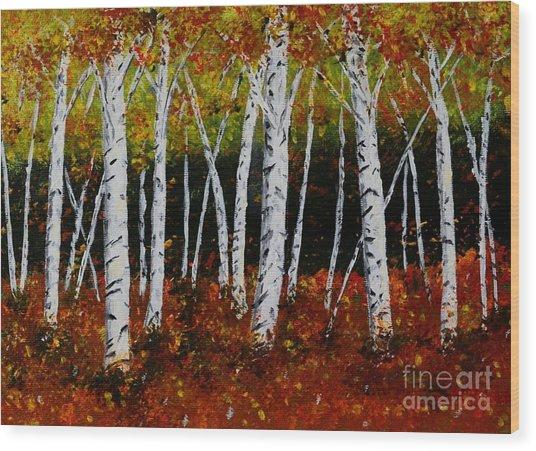 Aspens In Fall 3 Wood Print