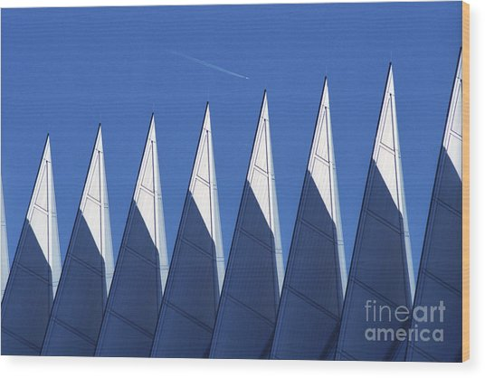 aSPIREing Air Force Academy Chapel with Jet Wood Print