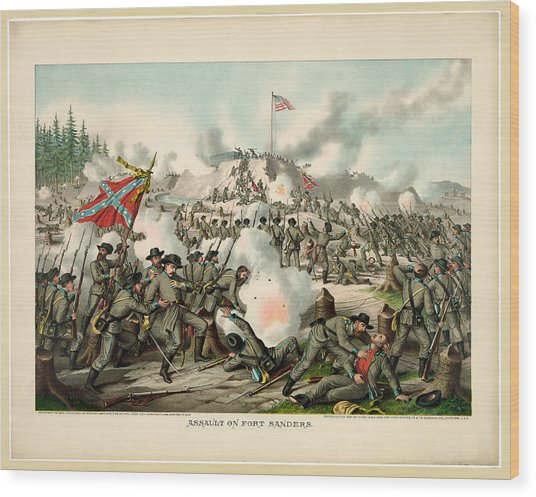 Assault On Fort Sanders Wood Print