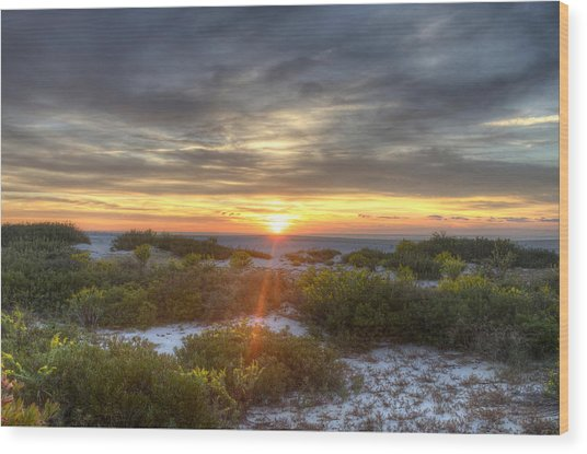Asseteague Sunrise Wood Print