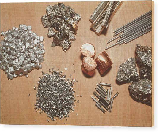 Assorted Transition Metals Wood Print by Klaus Guldbrandsen/science Photo Library