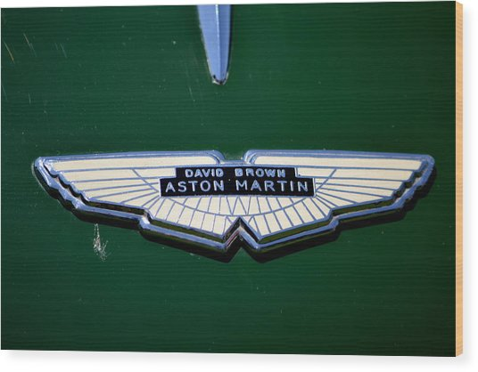 Aston Martin Badge Wood Print
