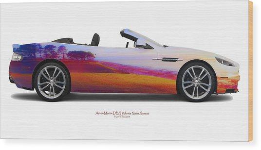 Aston Martin Dbs Volante Nairn Sunset Wood Print by Jan W Faul