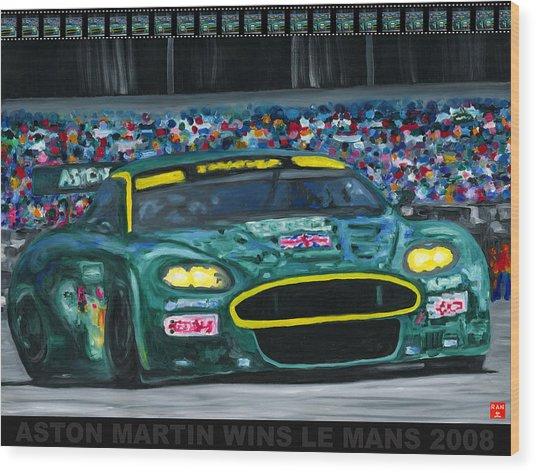 Aston Martin Wins Le Mans 2008 Pop Wood Print