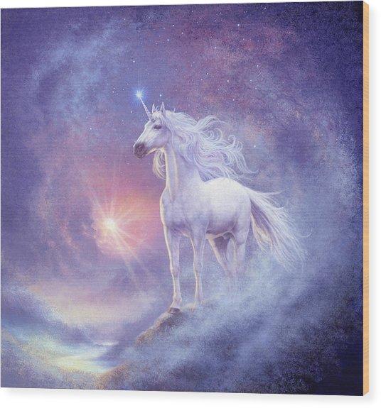 Astral Unicorn Wood Print