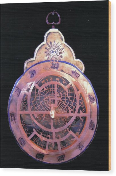 Astrolabe Prayer Wood Print