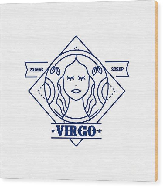 Astrological Symbol Wood Print