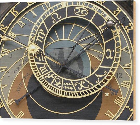 Astronomical Clock Prague Wood Print