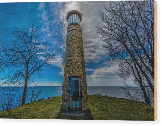 Asylum Point Lighthouse Wood Print
