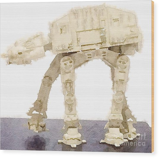 At-at All Terrain Armored Transport Wood Print