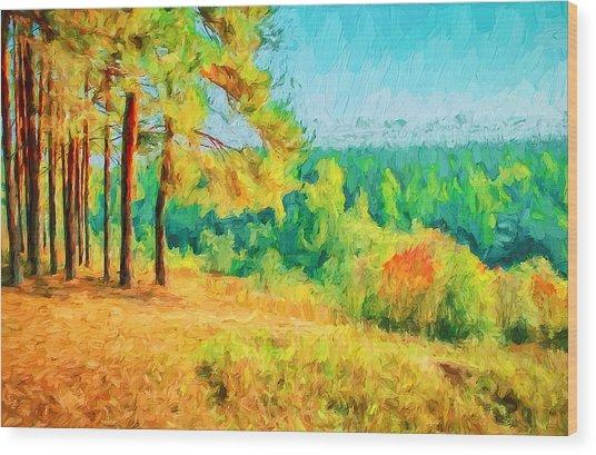 At Autumn Wood Print by Yury Malkov